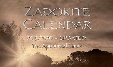 Zadokite Calendar 2019/2020 Dates Overview